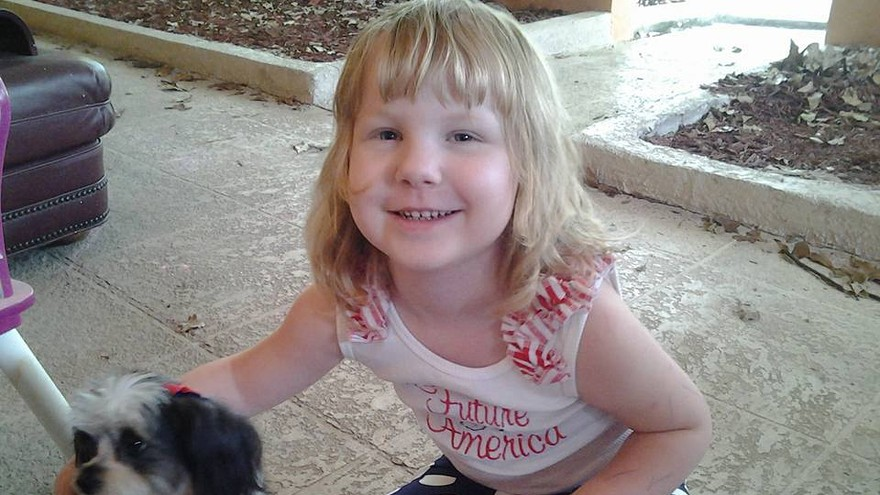 Dahlia Barnhart, who was given cannabis oil by her mother, Moriah.