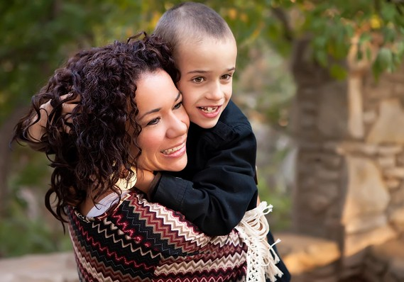 Michelle and her son, Lance, whose autism symptoms she treats with hemp oil. Image credit: MarketWatch.com